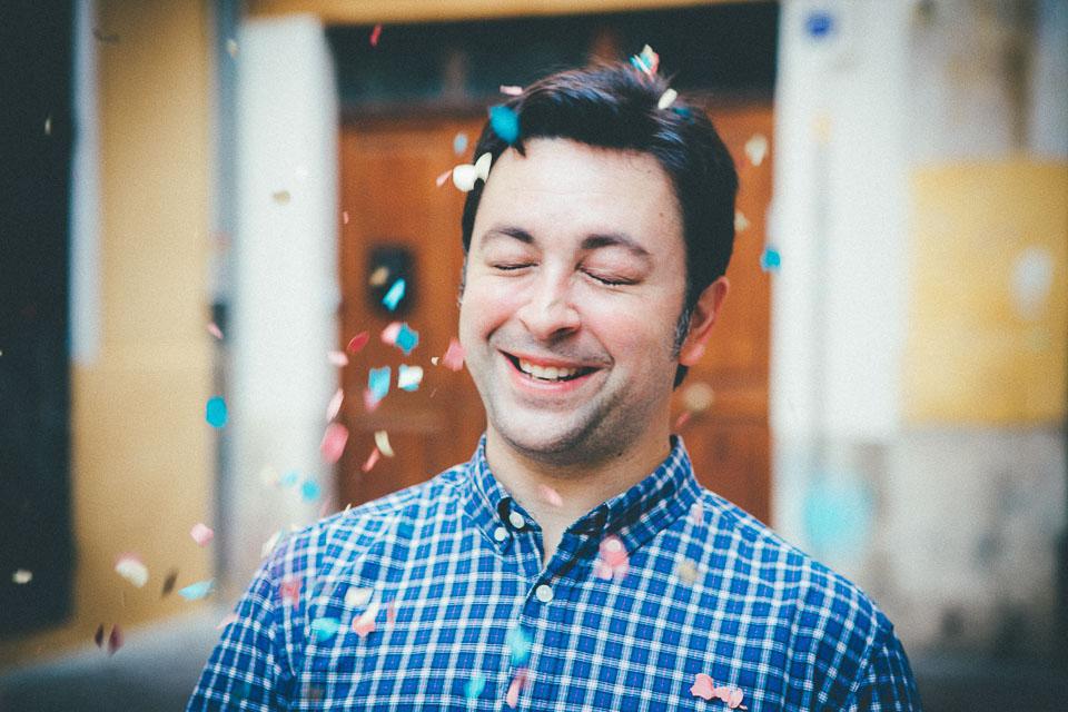 11 novio con confetti
