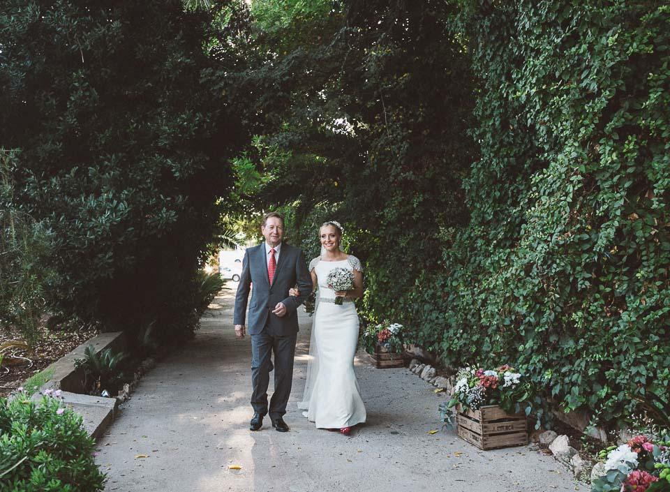 16 llegada novia reportaje de boda
