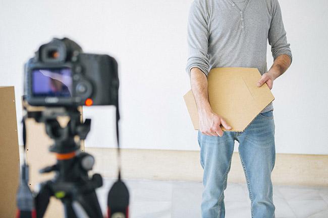 Detalle de proceso de trabajo de grabación de video para Triplo*