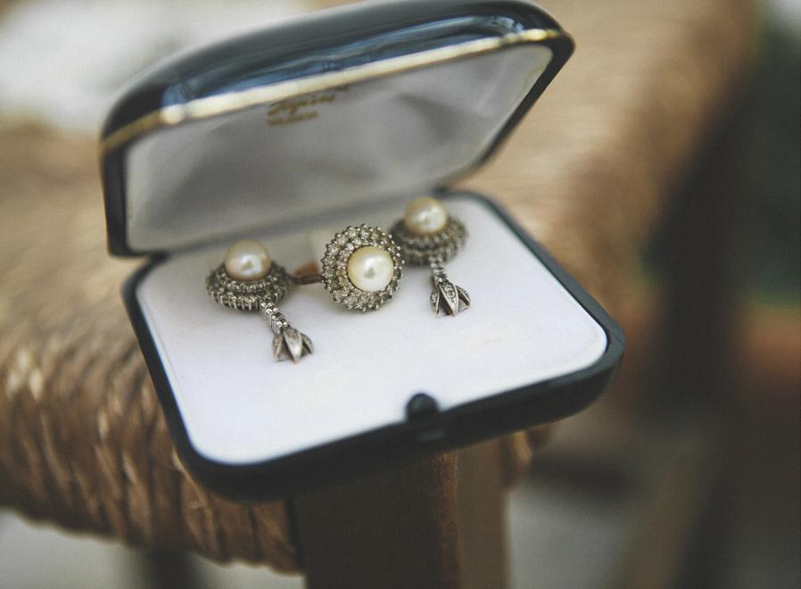 08 pendientes anillo vintage abuela novia