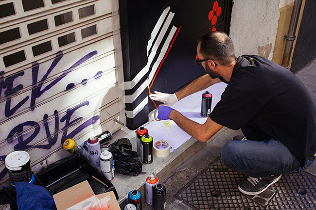 grafitti en la entrada