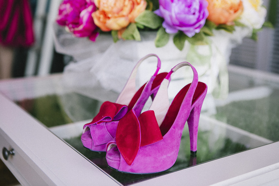 11 zapatos rosas de boda