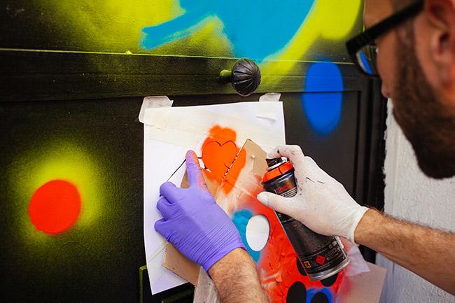 detalle plantilla corazon graffiti