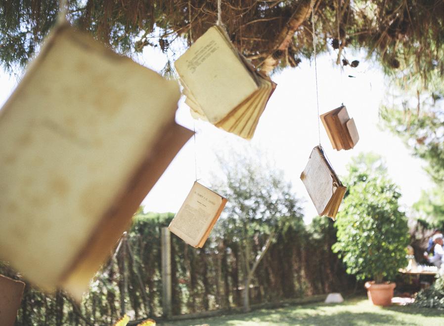 31 decoracion boda libros vintage