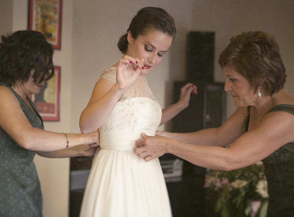 vestimenta de la novia