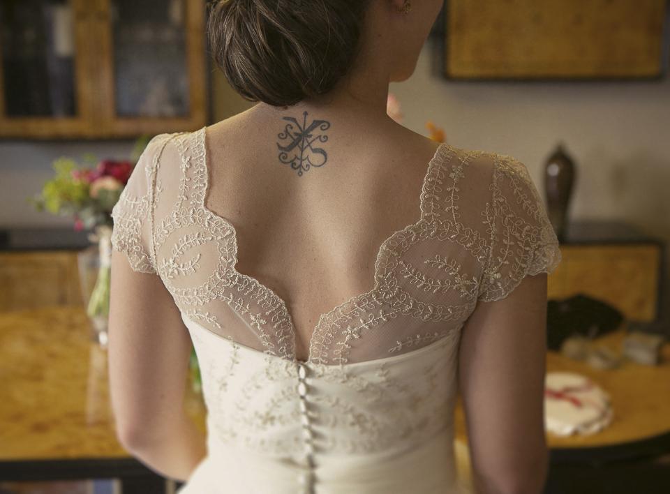 espalda de novia