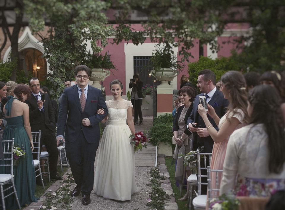 entrada de la novia en Villa Delia