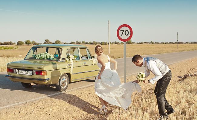 ¡Rum, Rum!: Los coches para la boda