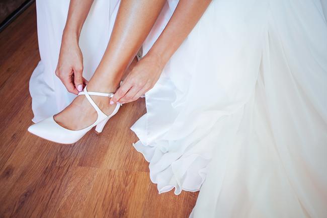 zapato comodo para novia radiante