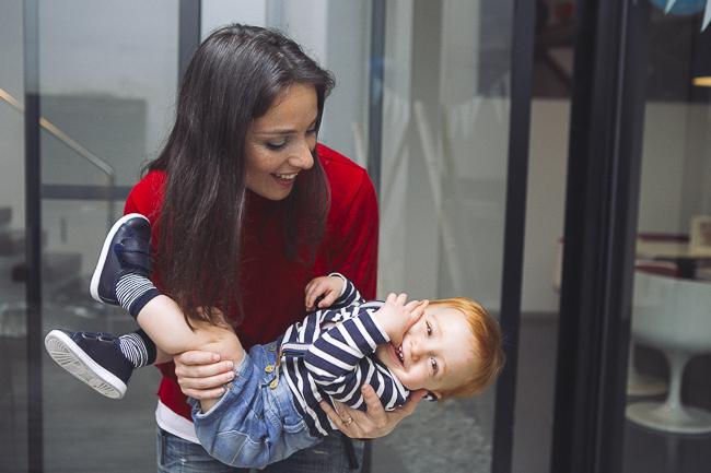 reportaje familiar madre e hijo