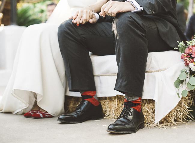06 calcetines a juego con los zapatos de la novia