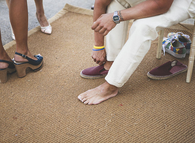 14 zapatillas de novio sin calcetines