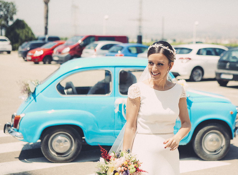 34 novia contenta al llegar en 600