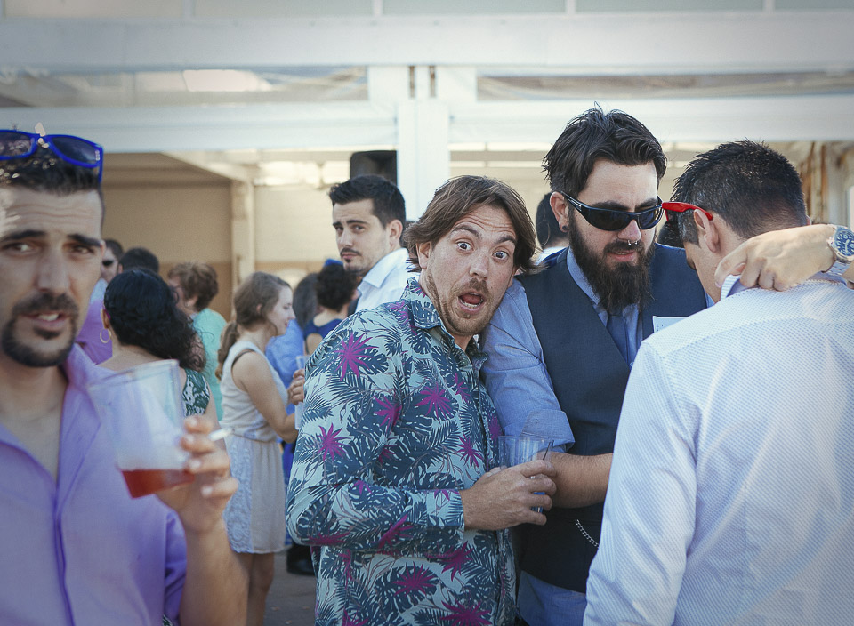 85 invitados sorprendidos en boda