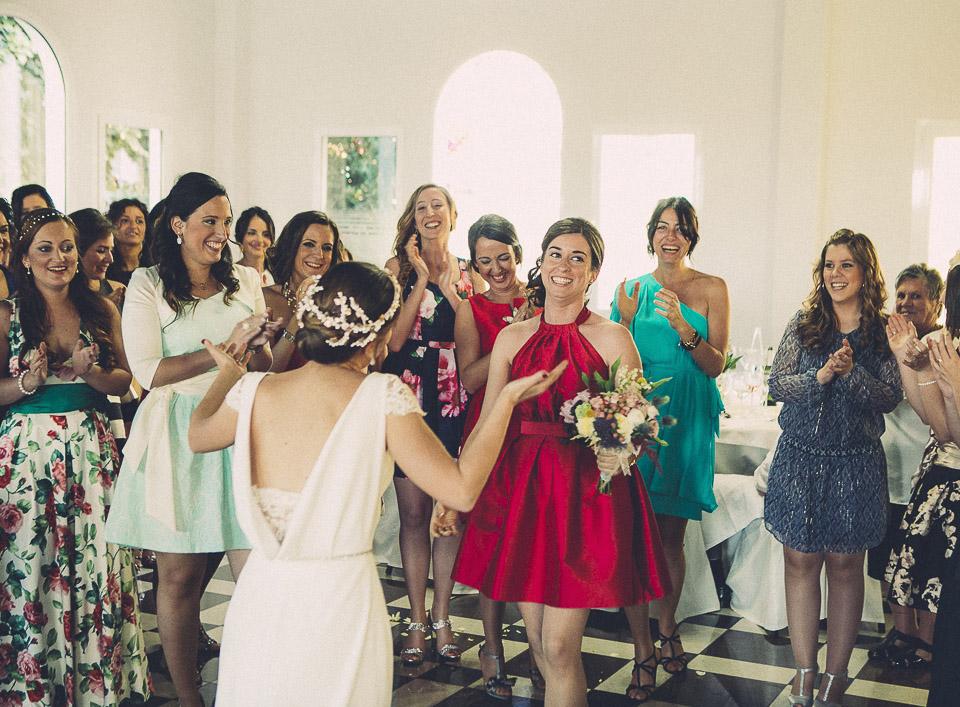 94 lanzamiento de ramo de novia