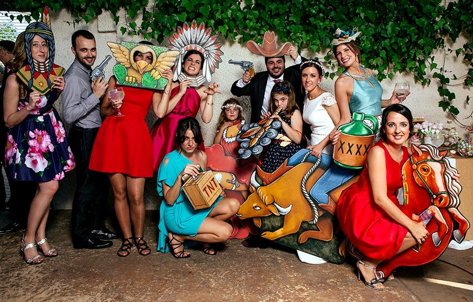 photocall indios y vaqueros fandi