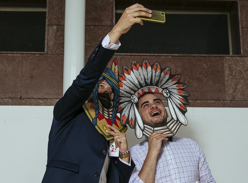 10 selfie en photocall western