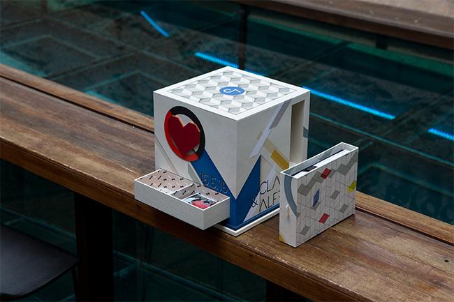 caja de fotos de boda inspirada en arquitectura bauhaus-fandi.es