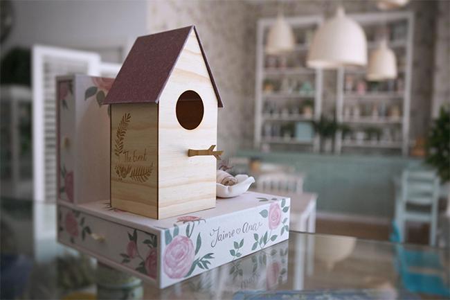 caja de fotos de boda inspirada en caja de pajaros-fandi.es