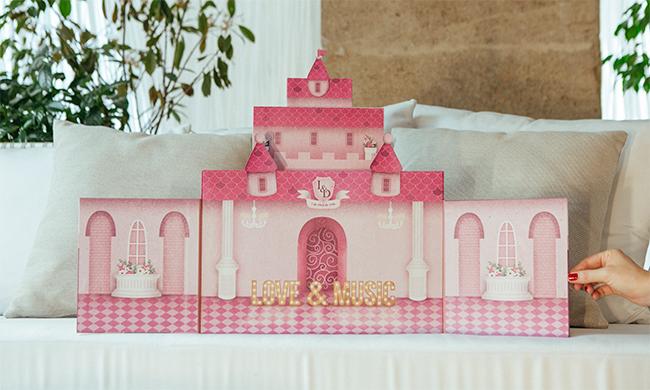 caja de fotos de boda inspirada en castillo de princesas-fandi.es