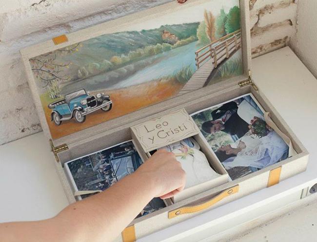 Caja de fotos de boda fandi: su historia.