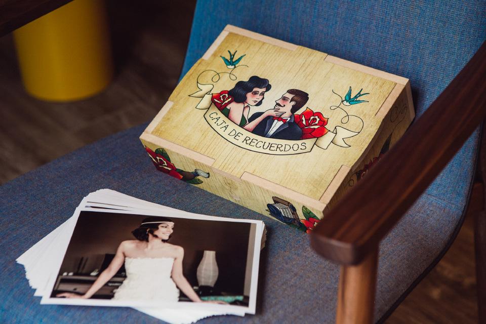caja para fotografias