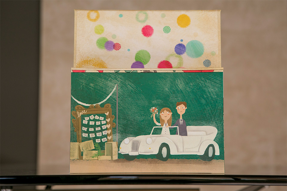 ilustracion-de-coche-de-boda-en-caja-de-fotos