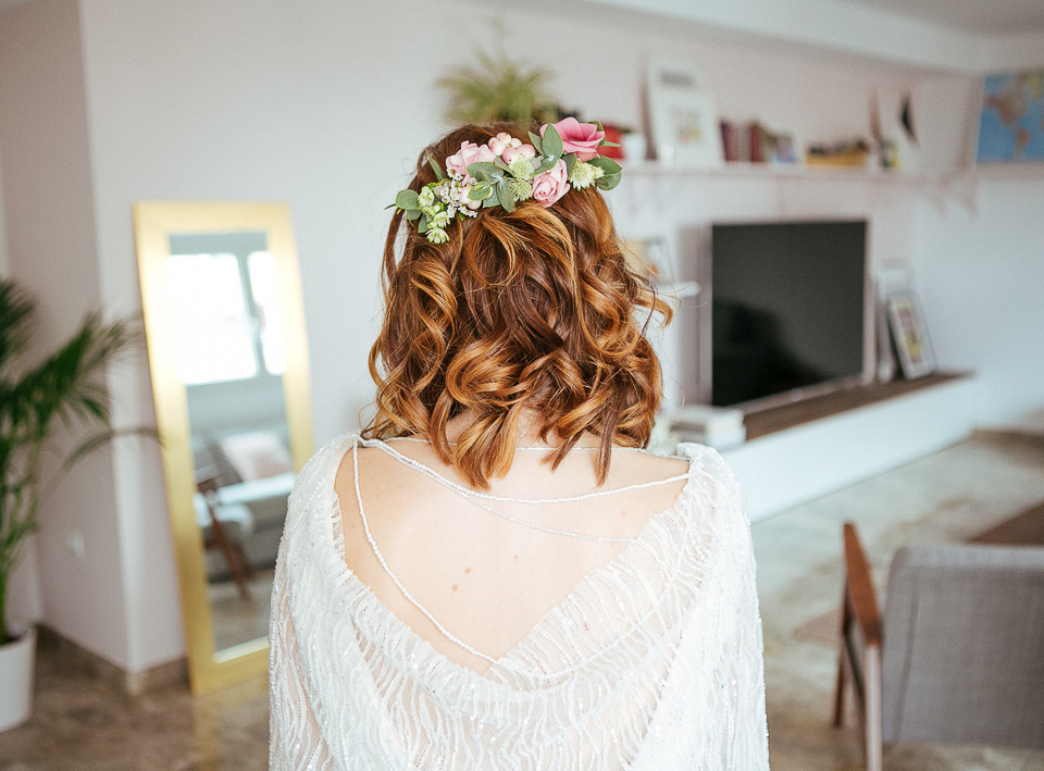 Una boda con vestido diseñado por la novia