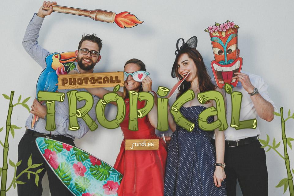 Photocall Tropical: unas vacaciones en el Caribe