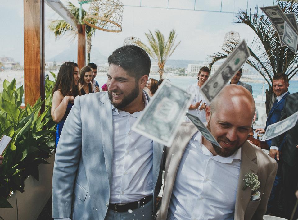 Una boda al lado de la playa