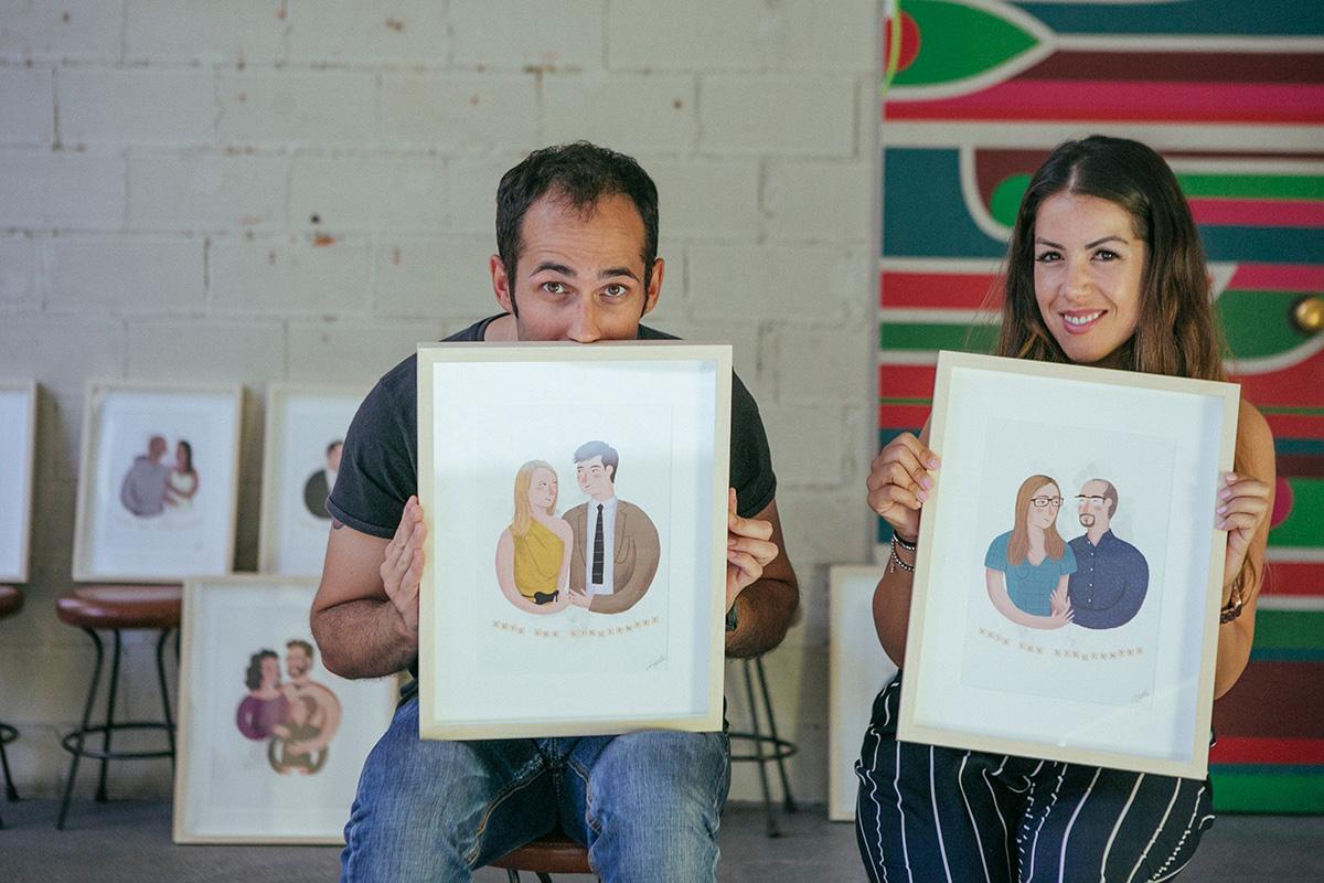 Ilustraciones personalizadas en las bodas