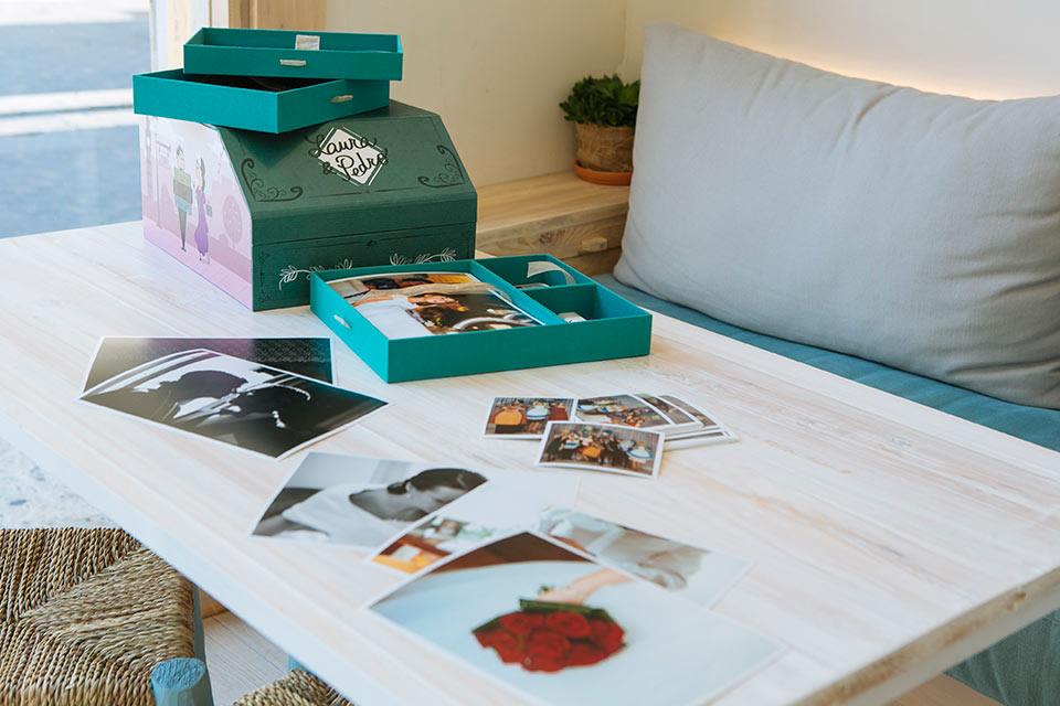 Fotos en caja de boda